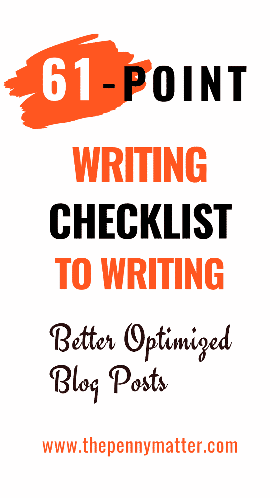 61-Point Writing Checklist for Optimizing Blog Posts