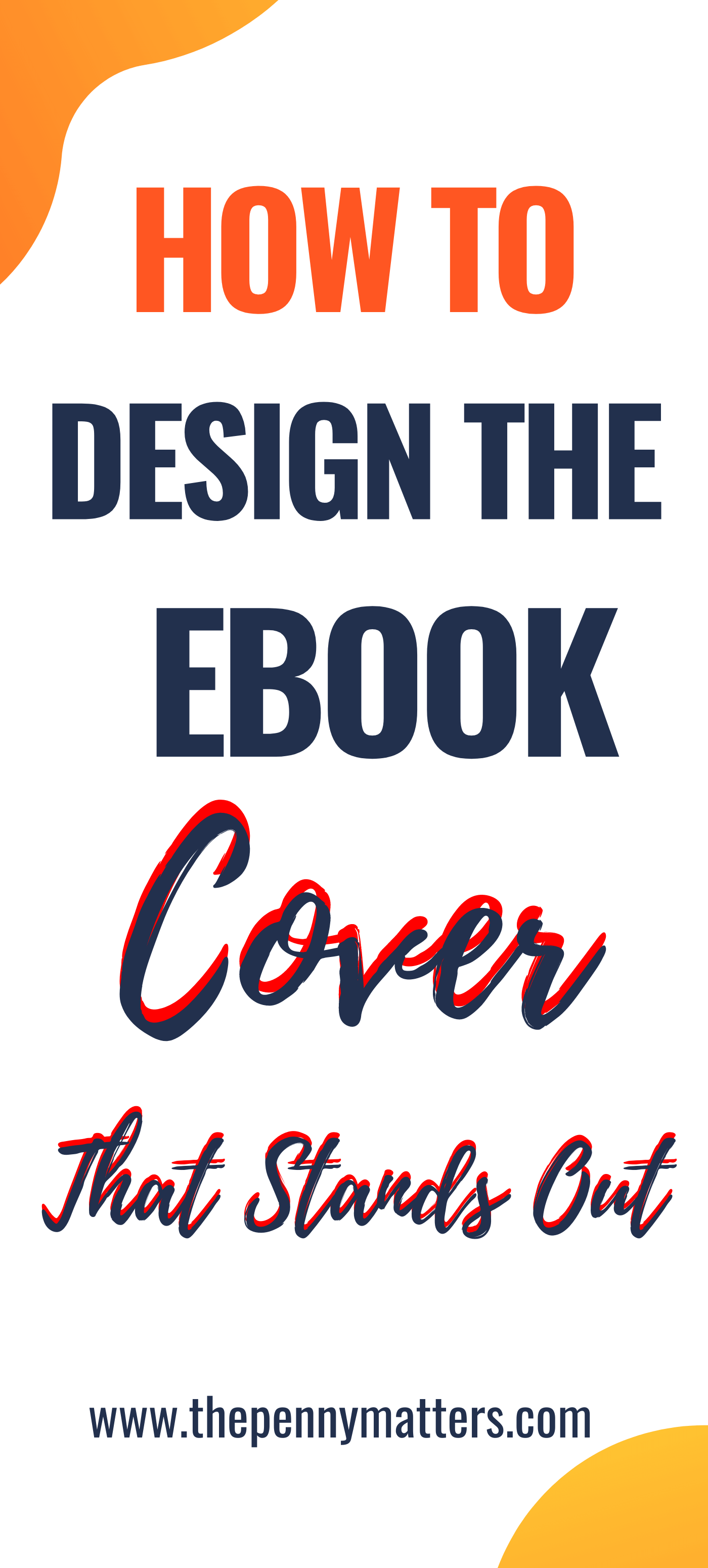 how to design an ebook cover pinterest image