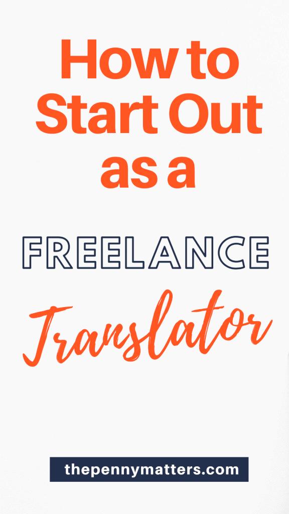 how to become a freelance translator